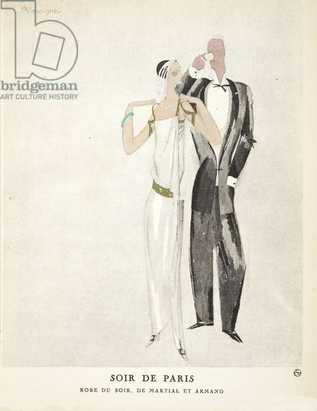 Soir de Paris, from a Collection of Fashion Plates, 1922 (pochoir print)