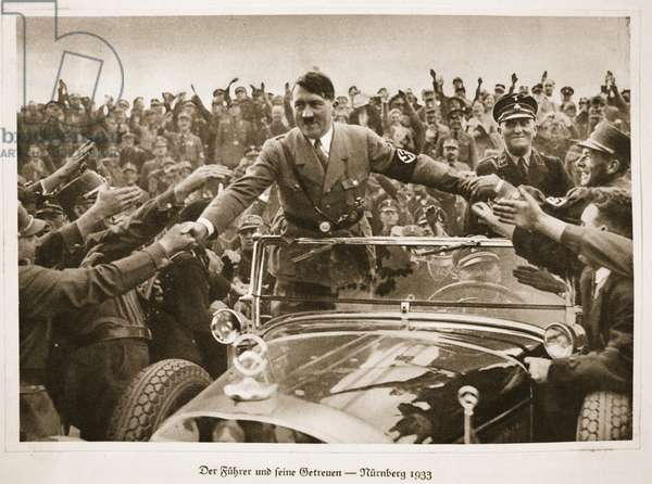 The Fuhrer and his Loyal Supporters - Nuremberg 1933, from 'Germany Awakened' (litho)