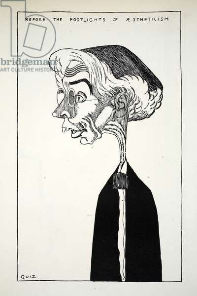 Mr Roger Fry, illustration from Eighty Eight Cartoons by Powys Evans, pub. Cayme Press, 1926 (litho)