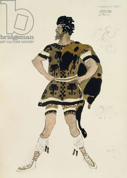 Costume for Darcon, from Daphnis and Chloe, c.1912 (colour litho)