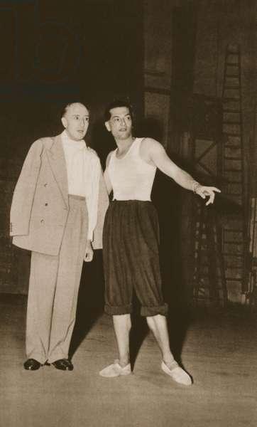 Serge Lifar and the Marquis de Cuevas at the Theatre de Monte Carlo, from 'Grand Ballet de Monte-Carlo', 1949 (photogravure)