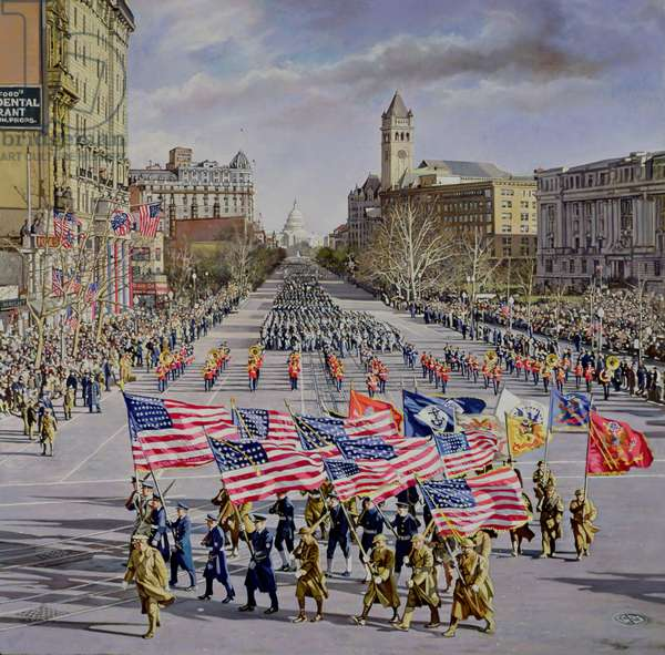 The Inaugural Parade of FDR of 1941, 1984 (oil on canvas)
