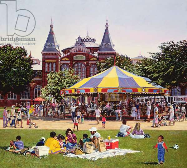 Carousel on the Mall, 1986 (oil on canvas)
