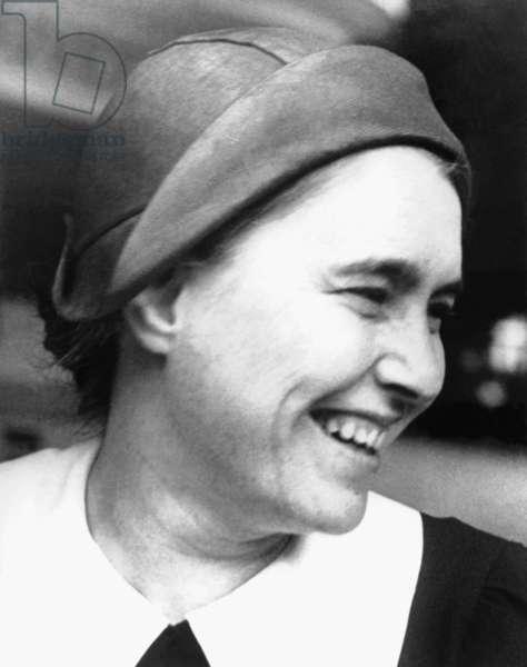 The writer Anna Seghers (undated) (b/w photo)