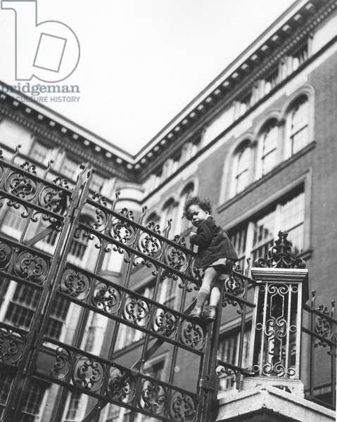 Girl on Gate, New York 1946