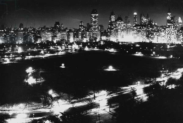 Central Park Night, New York 1947