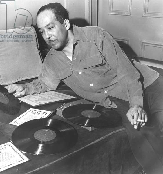 Hughes, Langston, records looking left 1954