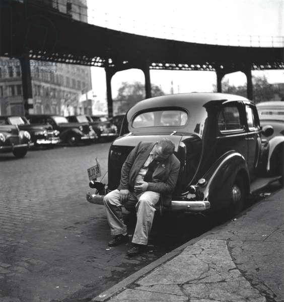 Man on Bumper, New York 1949