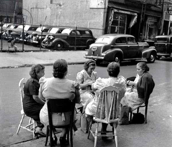 Knitting Circle, New York 1949