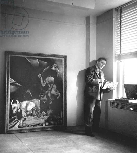 Chagall, Marc, painting, ca. 1941 (b/w photo)