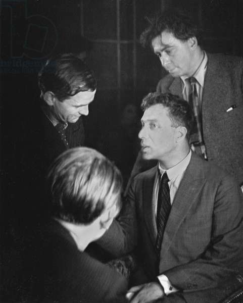 Pasternak, Boris 1935 (on his right Gustave Regler, behind him  Ilya Erhenburg, with back to camera Andr Malraux)