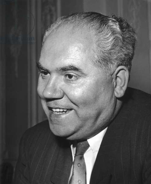 Politician Franz Neumann (1904-1974) (b/w photo)