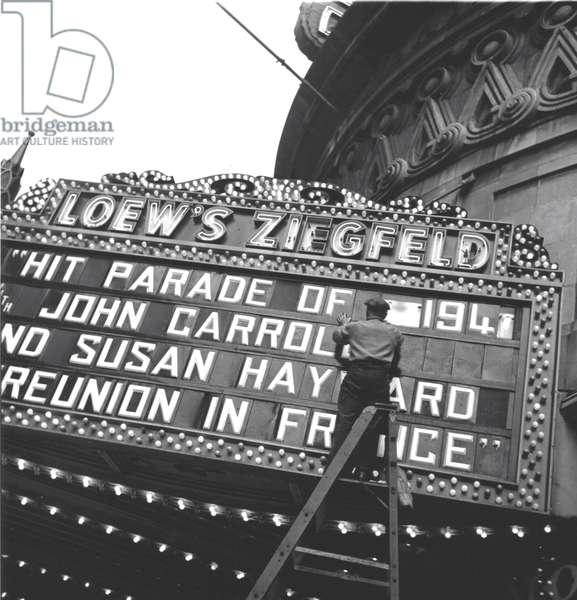 Loews Ziegfeld, New York 1943