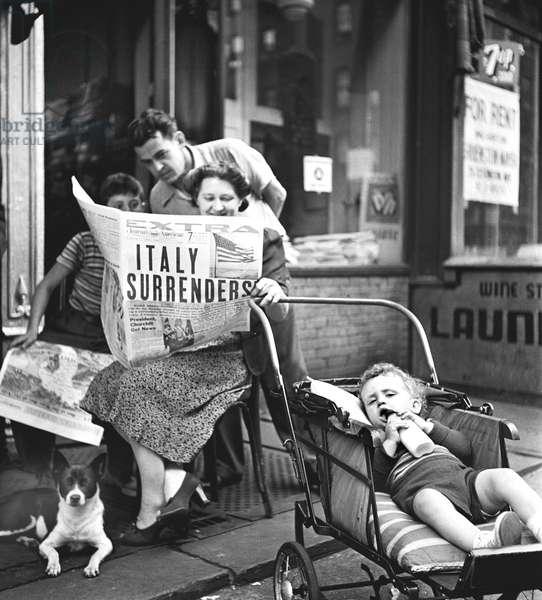 Italy Surrenders, New York 1943