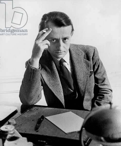Malraux, Andre, with desk, 1934