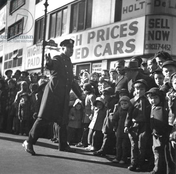 Cop at Parade, New York 1946