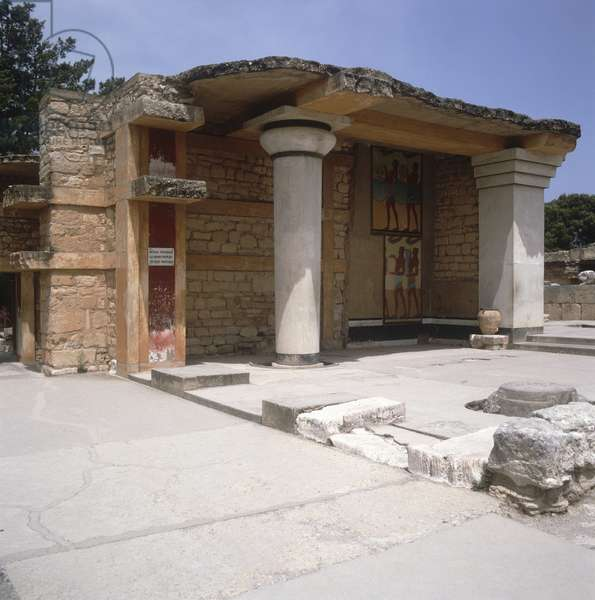 View of the Palace at Knossos (photo)