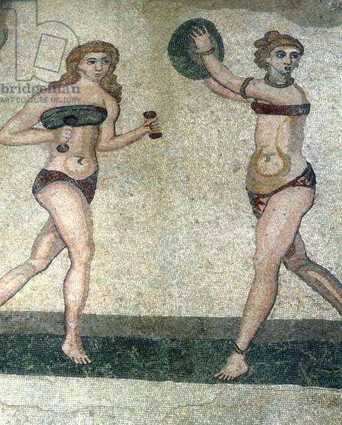 Women in 'bikinis', from the Room of the Ten Dancing Girls (mosaic)