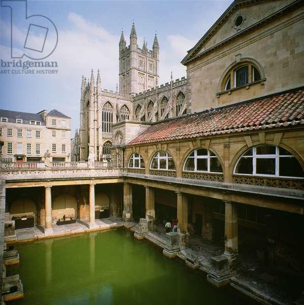 The Roman Baths, built 1st century AD to 4th century AD (photo)