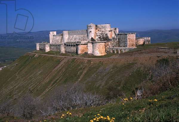 View of the fortress of Krak des Chevaliers (photo)