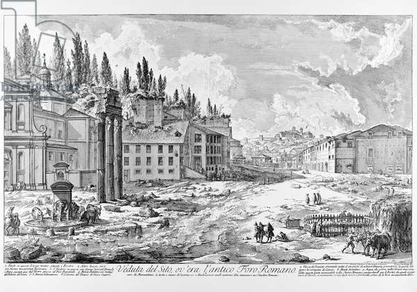 View of the Roman Forum, c.1747-78 (copper engraving)