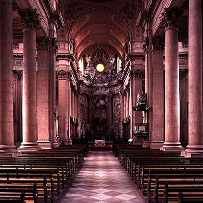 Nave of Notre-Dame built by Louis Beuque (fl.1759-1789) and Gabriel Ignaz Ritter (1732-1813) 1762-1785 (photo)