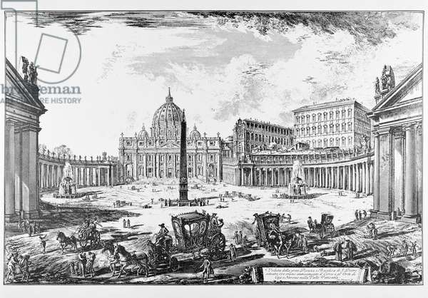 Rome, St. Peter's Square and St. Peter's Basilica, c.1747-78 (engraving)
