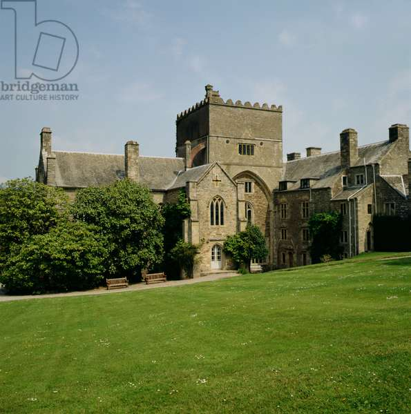 View of the south front of Buckland Abbey, Devon, built 1278 (photo)