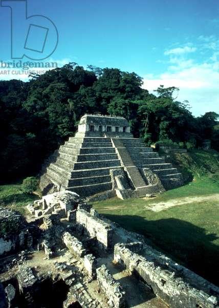 Temple of the Inscriptions, 675, Mayan classical epoch (photo)