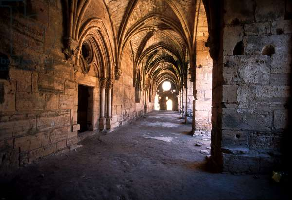 Vestibule of the Knights' Hall with cross-ribbed Arches, Krak des Chevaliers (photo)
