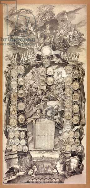 Coat of Arms of the Mainz Cathedral Chapter, calendar of 1778 (engraving)
