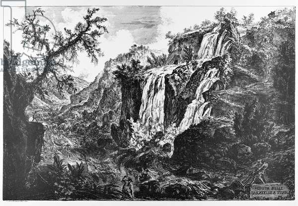 Tivoli, waterfalls, c.1747-78 (etching)