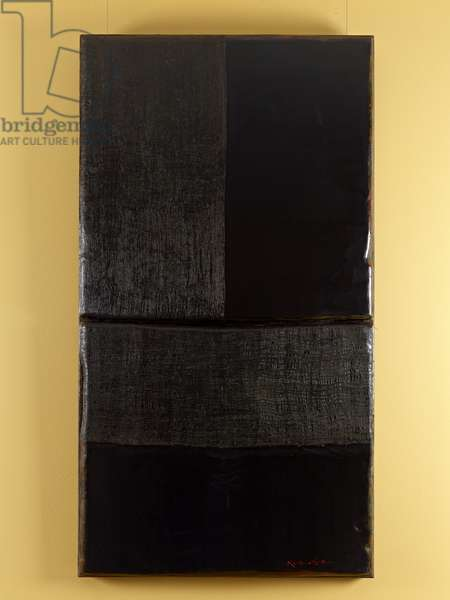 The Dynasty of Colours: Jealousy in Black, 2009 (oil, lacquer & jute on wood)