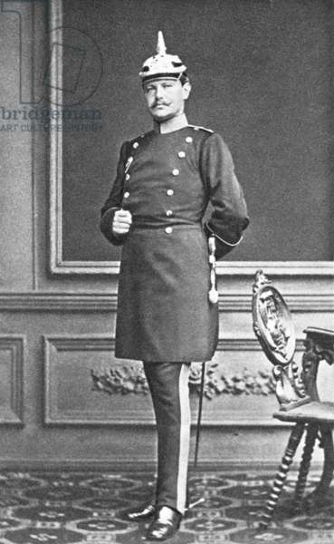 Paul von Hindenburg as Captain in the general staff of Stettin, 1878 (b/w photo)