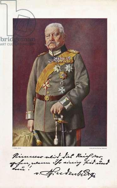 Paul von Hindenburg (colour litho)