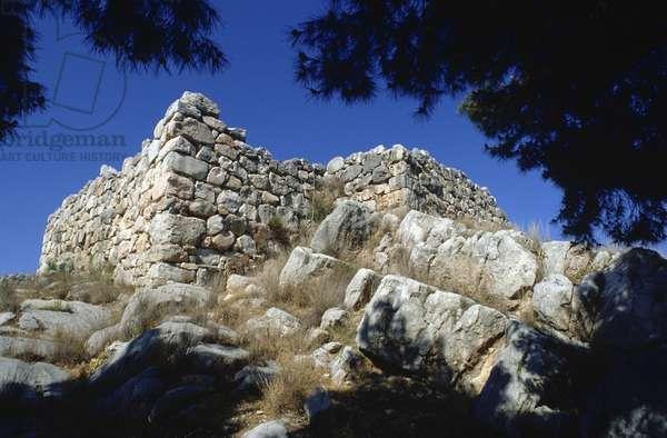 Mycenaean Castle at Tiryns (photo)