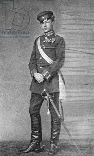 Paul von Hindenburg as Lieutenant and Adjutant in the 3rd Guard regiment, 1870/71 (b/w photo)