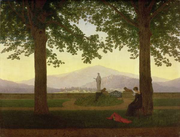 Garden Terrace, 1811 (oil on canvas)
