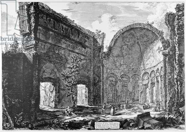 Tivoli, Hadrian's Villa, so-called Hall of the Philosophers, c.1774-78 (engraving)