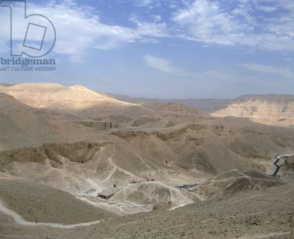 Panoramic View of the Valley of the Kings, Thebes, Egypt (photo)