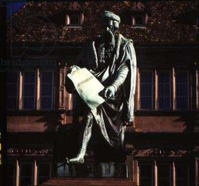 Statue of Johannes Gutenberg (c.1400-66) 1840 (bronze)