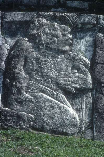 Relief showing the submission of a tribal leader, from the Great Palace (limestone)