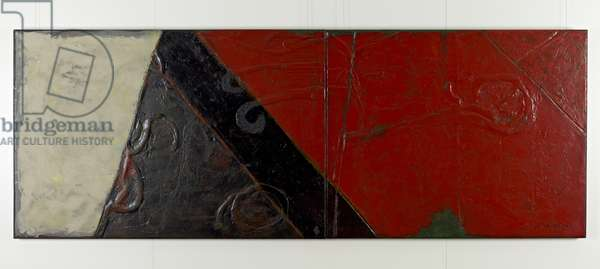 The Dynasty of Colours: The Victory, 2009 (oil, lacquer & jute on wood)