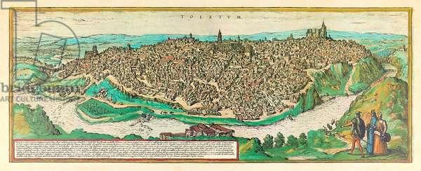 Toledo, c.1580 (colour engraving)