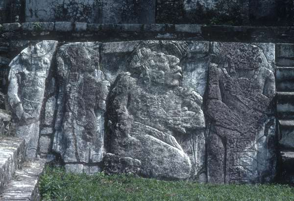 Relief showing the submission of tribal leaders, from the Great Palace (limestone)