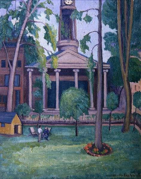 New Church, Regent Square, c.1935 (oil on canvas)