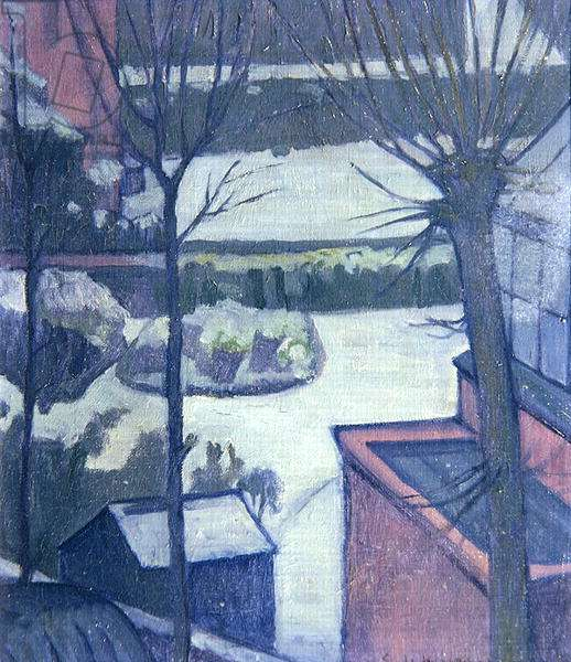 Snow, before 1922 (oil on canvas)