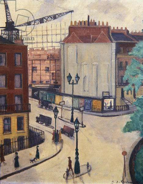 Corner of Russell Square, c.1935 (oil on canvas)