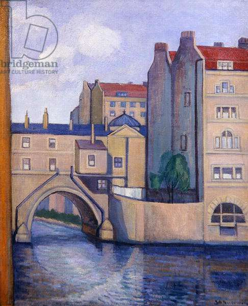 The Avon at Bath, before 1936 (oil on canvas)