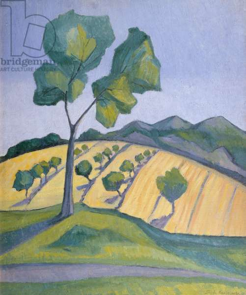 Landscape, before 1936 (oil on canvas)